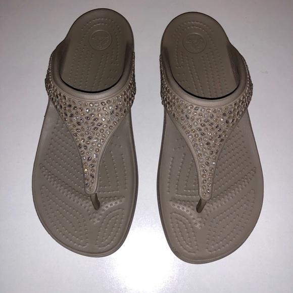 432726afd629 CROCS Shoes - Worn 1X💜CROCS💜Mushroom Color Bling Sandals